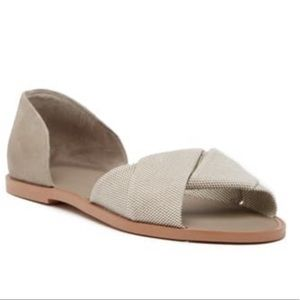 Vince idara twisted d'orsay sandals canvas women's
